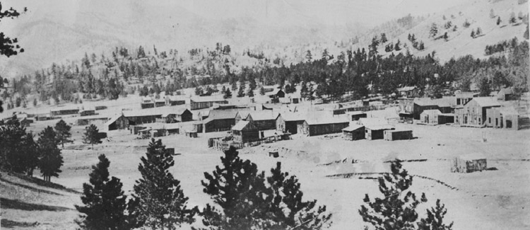 View of Guffey Colorado around 1900.
